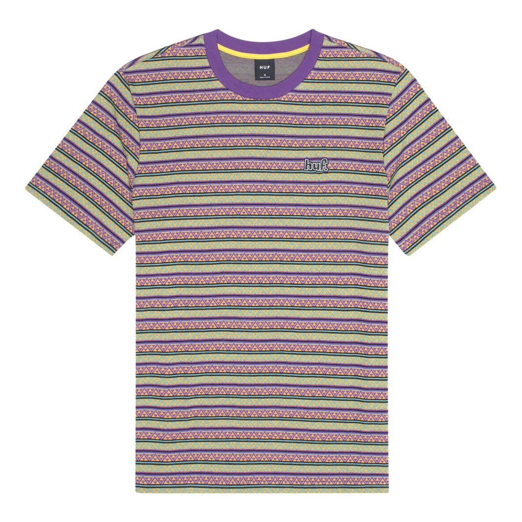 HUF Allen Short Sleeve Knit Top Mens SS Knitwear Grape