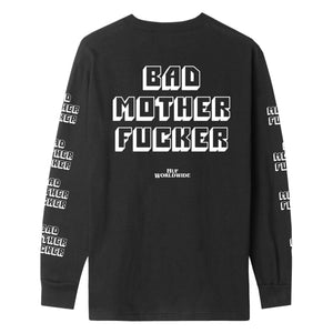HUF Bad Mother Fucker Long Sleeve T-Shirt Mens Black