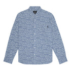 Load image into Gallery viewer, HUF Bdr Long Sleeve Chambray Shirt Mens Ls Shirt Indigo