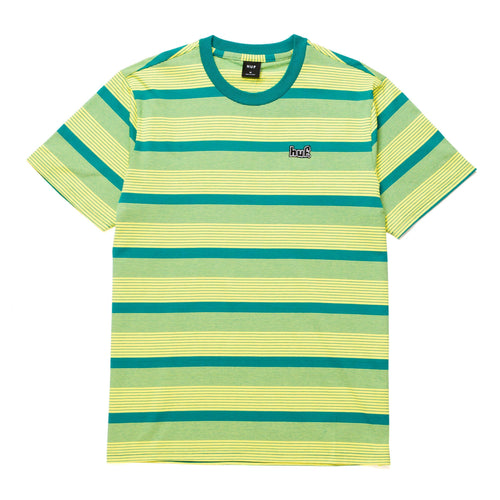 Huf BERKLEY STRIPE Shortsleeve KNIT TOP LEMON
