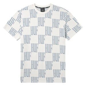 HUF Big Checked Knit Top Light Grey