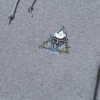 Load image into Gallery viewer, HUF Blvd Triple Triangle Pullover Hoodie Grey Heather