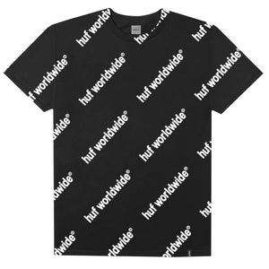 HUF Campaign T Shirt Mens Printed Tee Black