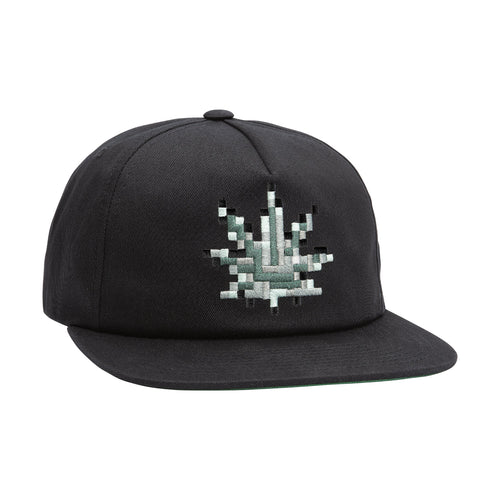 HUF Censored Snapback Hat Black