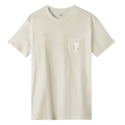 HUF Central Park Pocket T-Shirt Cream