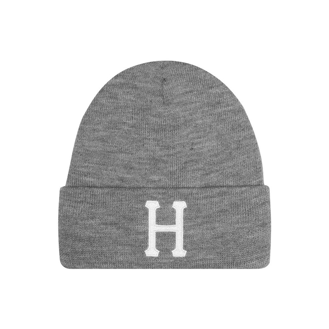 HUF Classic H Beanie Mens Beanie Grey Heather