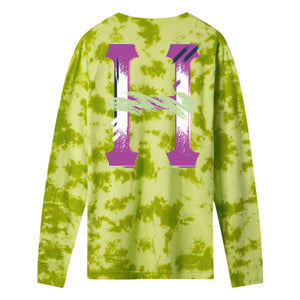 HUF Classic H Watercolour Long Sleeve T-Shirt Safety Green