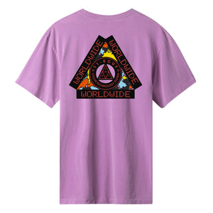 HUF Colour Tech Triple Triangle T-Shirt Violet