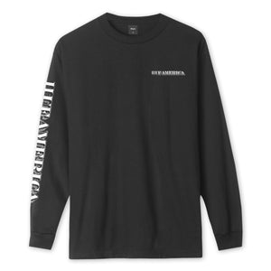 HUF Death & Taxes Long Sleeve T-Shirt Black