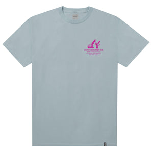 HUF Demolition Crew T Shirt Mens Tee Cloud Blue