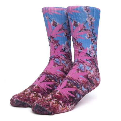 Digital Plantlife Sock Pink