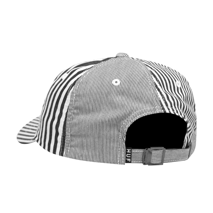 HUF Disorder Curved Visor 6 Panel White