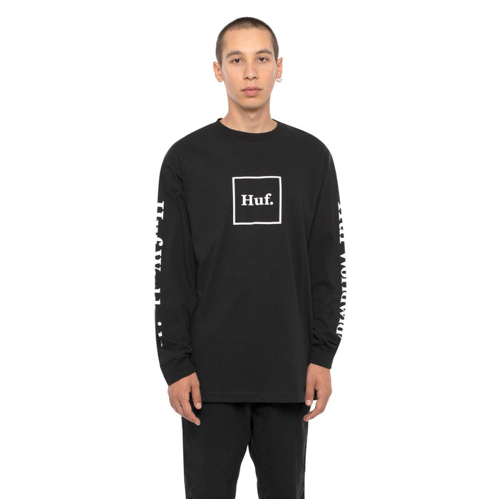 HUF Domestic Long Sleeve T Shirt Mens Ls Tee Black