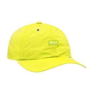 HUF DWR Fuck It Curved Visor 6 Panel Hot Lime