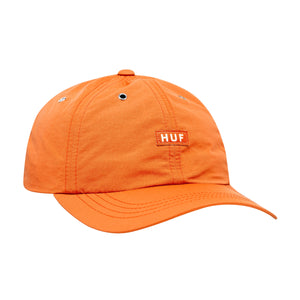 HUF DWR Fuck It Curved Visor 6 Panel Persimmon