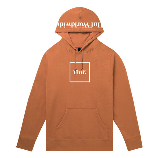 HUF Box Logo Pullover Hoodie Rust