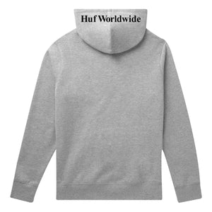 HUF Box Logo Pullover Hoodie Mens Hoodie Grey Heather