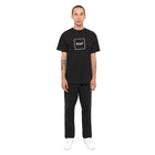 Load image into Gallery viewer, HUF Essentials Box Logo T Shirt Mens Logo Tee Black