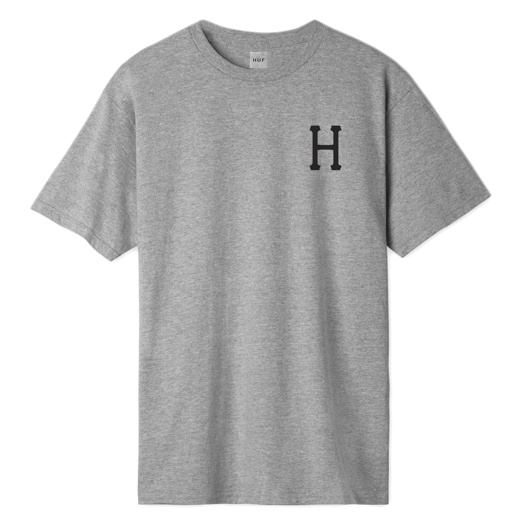 HUF Essentials Classic H T-Shirt Mens Printed Tee Grey Heather