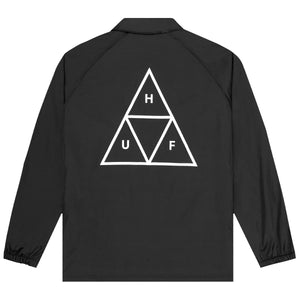 HUF Essentials Triple Triangle Coaches Jacket Mens Jacket Black
