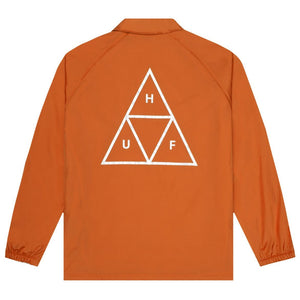 Triple Triangle Coaches Jacket Rust