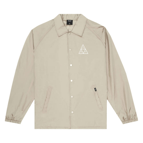 Huf Triple Triangle Coaches Jacket Stone