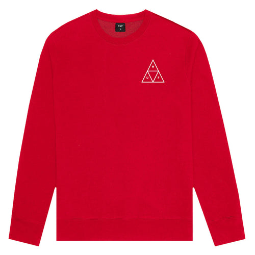 HUF Essentials Triple Triangle Crew Mens Sweater Mandarin Red