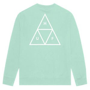 HUF Essentials Triple Triangle Crew Mint