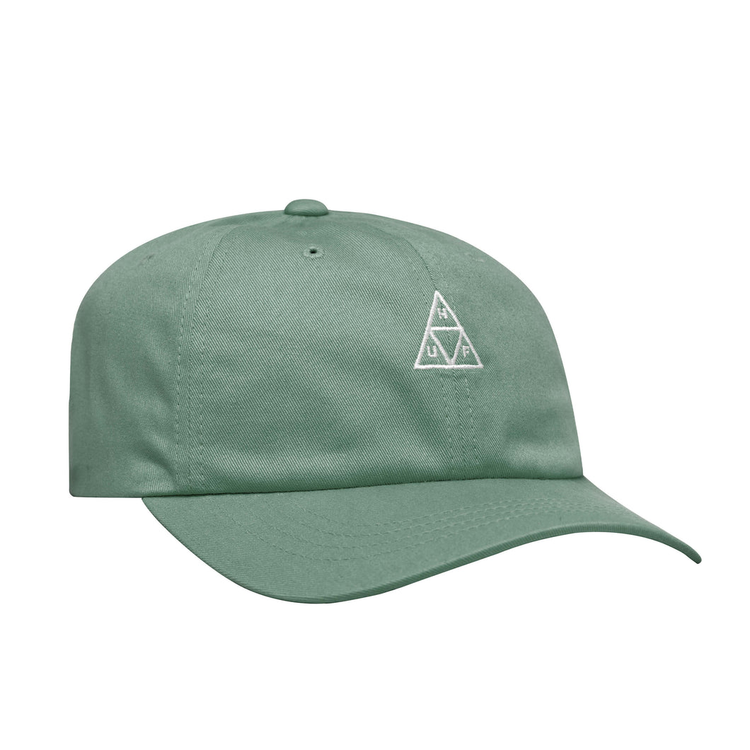 HUF Triple Triangle Curved Visor 6 Panel Hat Beryl Green