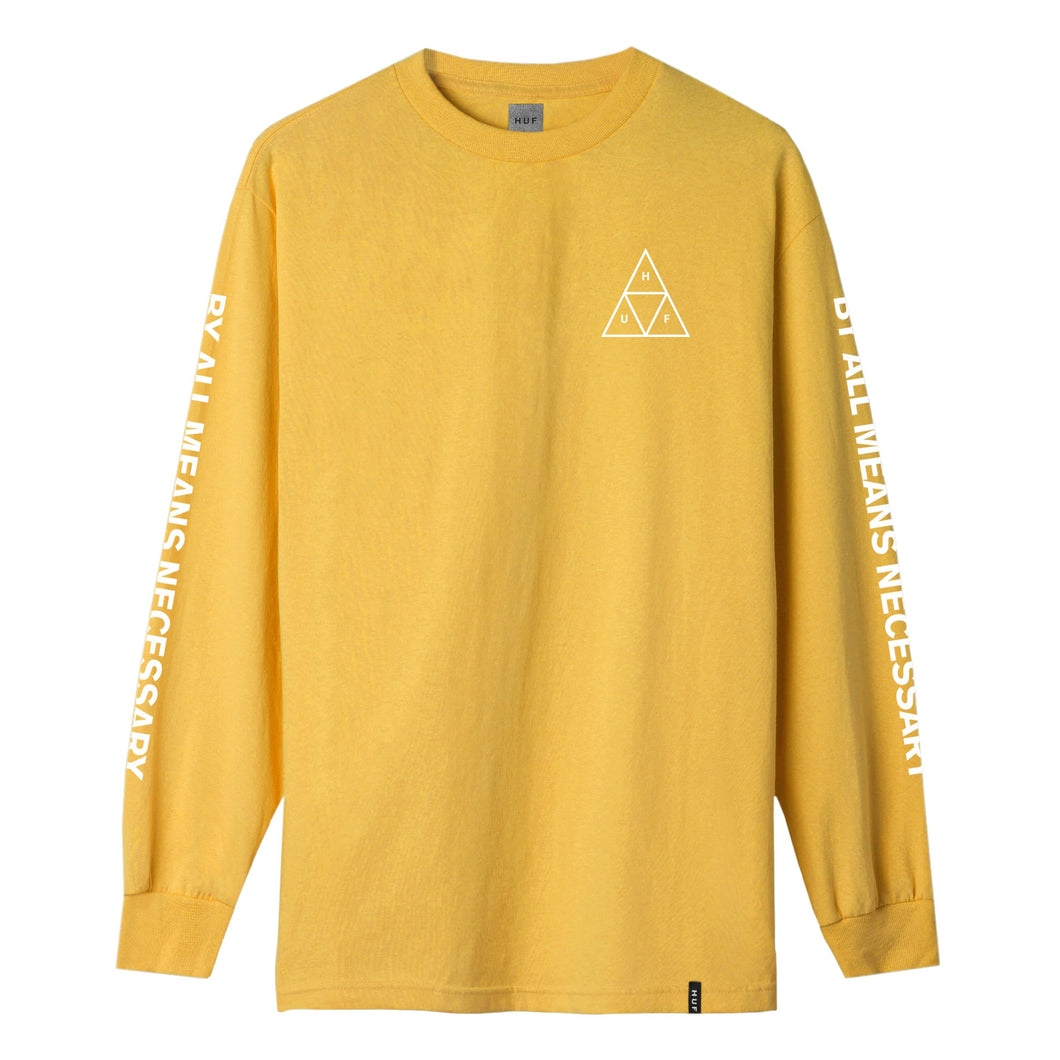 HUF Triple Triangle Long Sleeve T-Shirt Gold