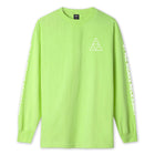 Load image into Gallery viewer, Triple Triangle Long Sleeve T-Shirt Bio Lime