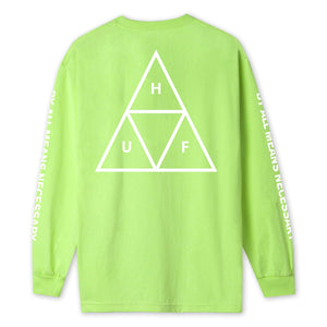Triple Triangle Long Sleeve T-Shirt Bio Lime