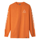 Load image into Gallery viewer, HUF Essentials Triple Triangle Long Sleeve T Shirt Mens Ls Tee Russet Orange