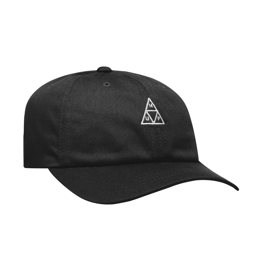 HUF Essentials Triple Triangle Curved Visor Hat Mens Cap Black