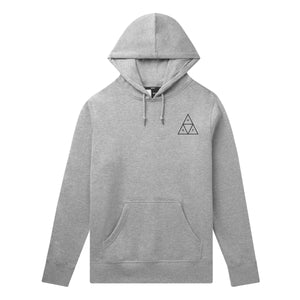 HUF Essentials Triple Triangle Pullover Hoodie Mens Hoodie Grey Heather