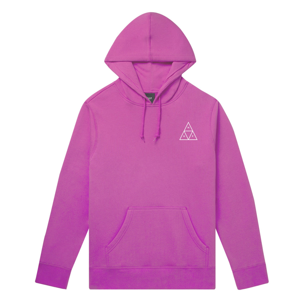 HUF Essentials Triple Triangle Pullover Hoodie Hot Pink