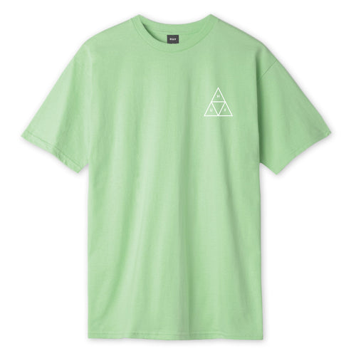 HUF Essentials Triple Triangle T-Shirt Mens Printed Tee Mint