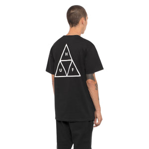 HUF Essentials Triple Triangle T Shirt Mens Tee Black