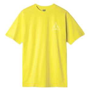 HUF Essentials Triple Triangle T Shirt Mens Tee Blazing Yellow