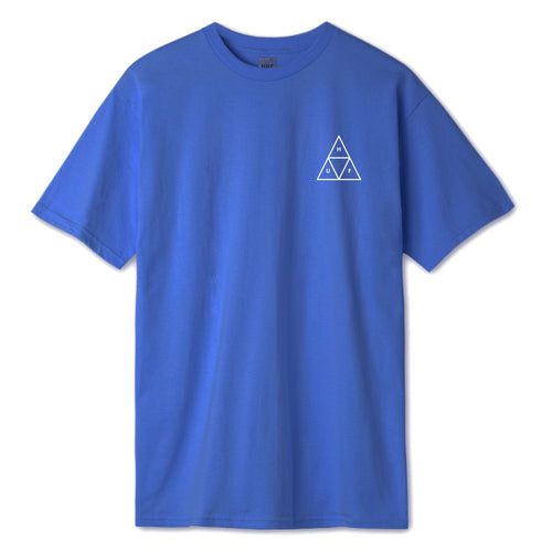 HUF Essentials Triple Triangle T Shirt Mens Tee Nebulas Blue