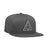 HUF Essentials Triple_Triangle Snapback Hat Mens Cap Charcoal