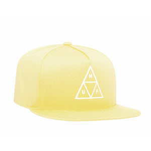 HUF Essentials Triple Triangle Snapback Mens Cap Pale Lemon