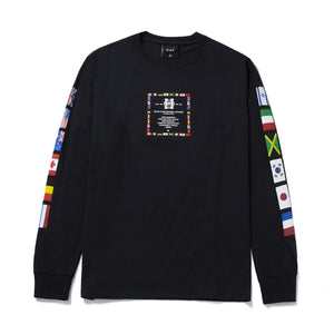 HUF Flag Atelier Long Sleeve T-Shirt Black