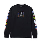 Load image into Gallery viewer, HUF Flag Atelier Long Sleeve T-Shirt Black