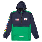 Load image into Gallery viewer, Huf Flags Anorak Jacket French Navy
