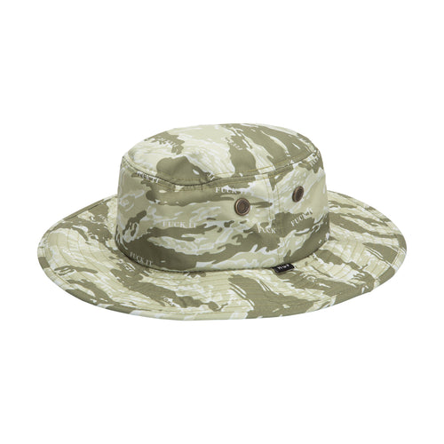 HUF Fuck It Tiger Camo Boonie Hat Dusty Olive