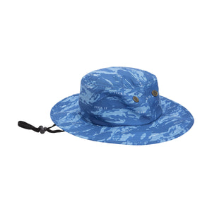 HUF Fuck It Tiger Camo Boonie Hat Olympian Blue