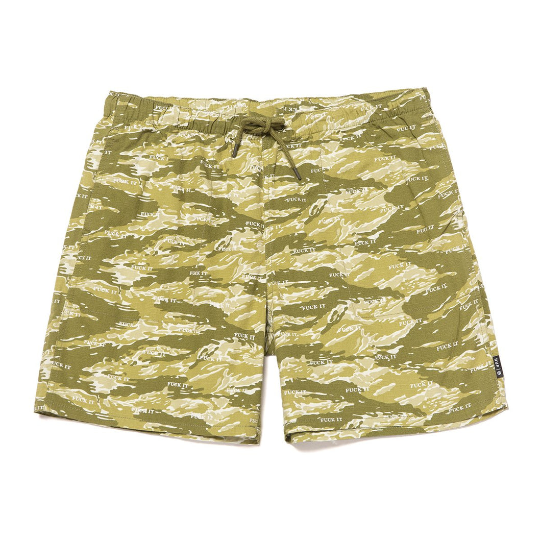 HUF Fuck It Tiger Camo Easy Short Dusty Olive