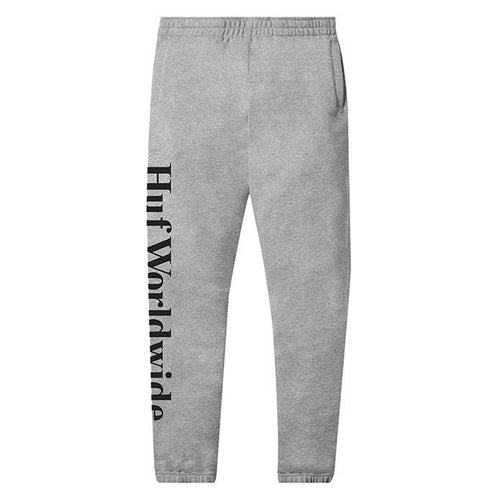 HUF Essentials Fleece Pant Mens Jogger Grey Heather