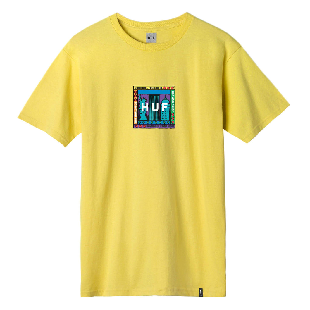 HUF Gift Shop Box Logo T-Shirt Aurora Yellow